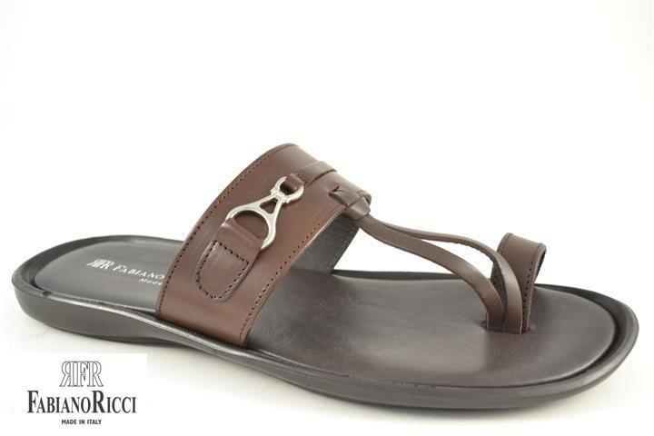 FABIANO RICCI - round towline Sandals - Brown - Ninostyle