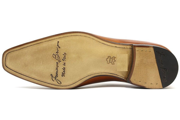 Shoes Men - Francesco Benigno Italian Derby Shoes - Brandy