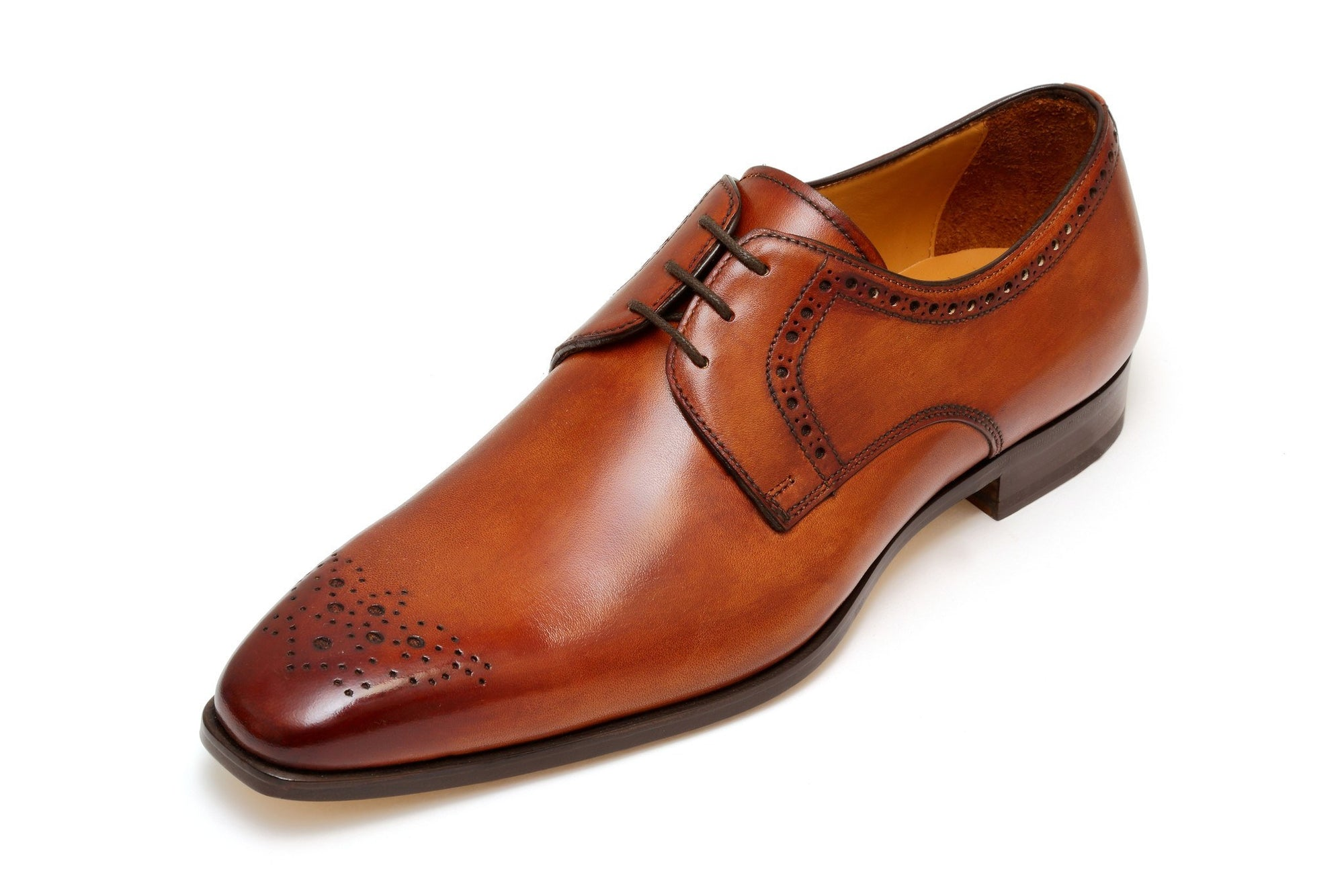 Francesco Benigno Italian Derby Shoes - Honey - Ninostyle