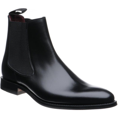 Shoes Men - Hutchinson Stylish Chelsea Boots - Black Leather By LOAKE