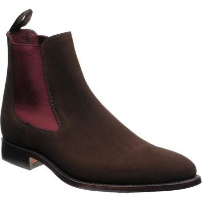 Hutchinson Stylish Chelsea Boots - Brown Suede By LOAKE - c - Ninostyle