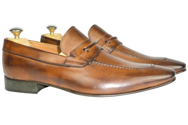Shoes Men - Italian Cognac Vitello Shoe - Maurizio Bellini