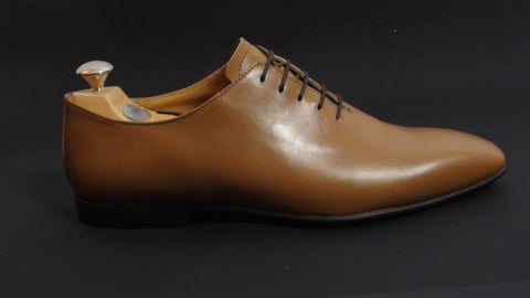 Shoes Men - Italian Handmade Shoes - Light Tan -  P. Ciccone
