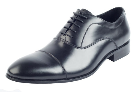 Shoes Men - JOHN WHITE - Twain Black Calf Leather Oxford