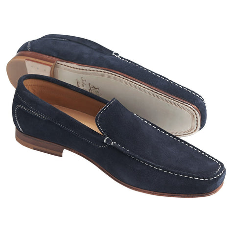 Shoes Men - JOHN WHITE - Venice Navy Suede