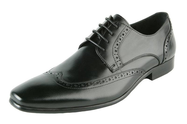 Shoes Men - JOHN WHITE - Walker Black Calf Leather Brogue