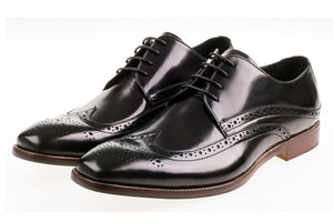 JOHN WHITE - Whitehall Hi-Shine Black Leather - Ninostyle
