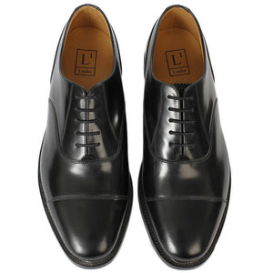 LOAKE 200B Capped Oxford shoe - Black- Top View