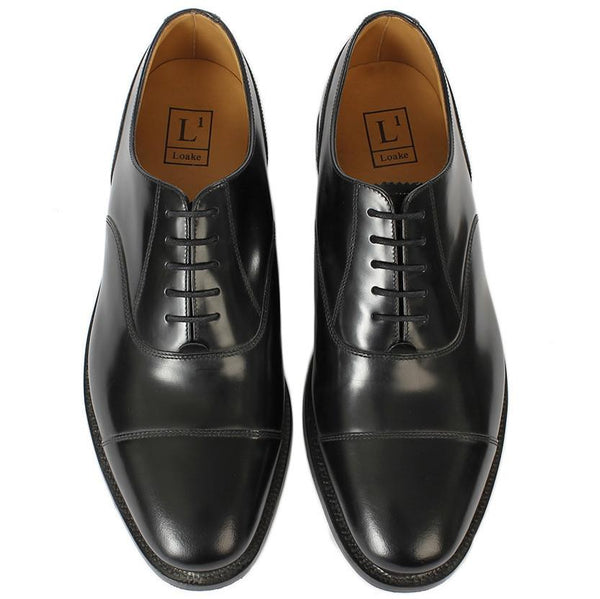 Shoes Men - LOAKE 200B Capped Oxford Shoe - Black