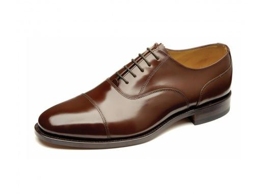 Shoes Men - LOAKE 200CH Toe Capped Oxford Shoe - Brown