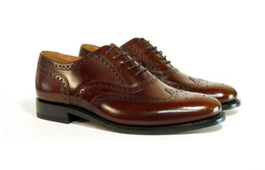 LOAKE 202T Full Brogue shoe - Brown- Side View 2