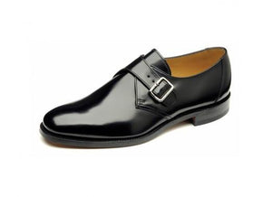 LOAKE 204B Buckle Monk shoe - Black - C - Side View