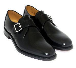 LOAKE 204B Buckle Monk shoe - Black - C - Top View
