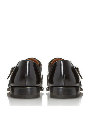 LOAKE 204B Buckle Monk shoe - Black - C - Back View