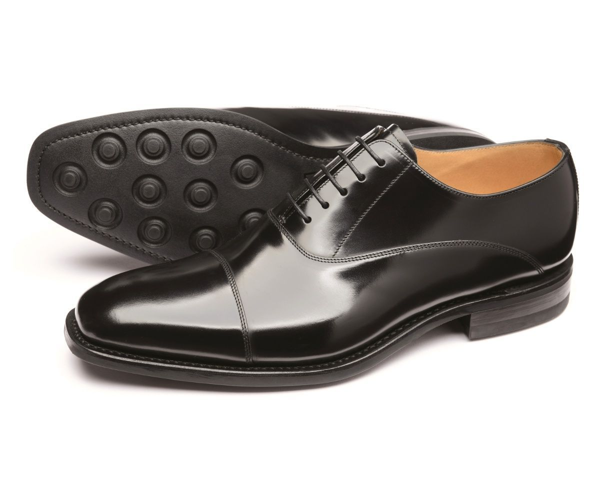 LOAKE 260B Oxford shoe - Black Polished - Ninostyle