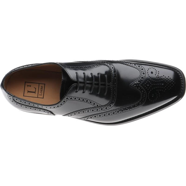 Shoes Men - LOAKE 262B Brogue Oxford Shoe - Black Pollished
