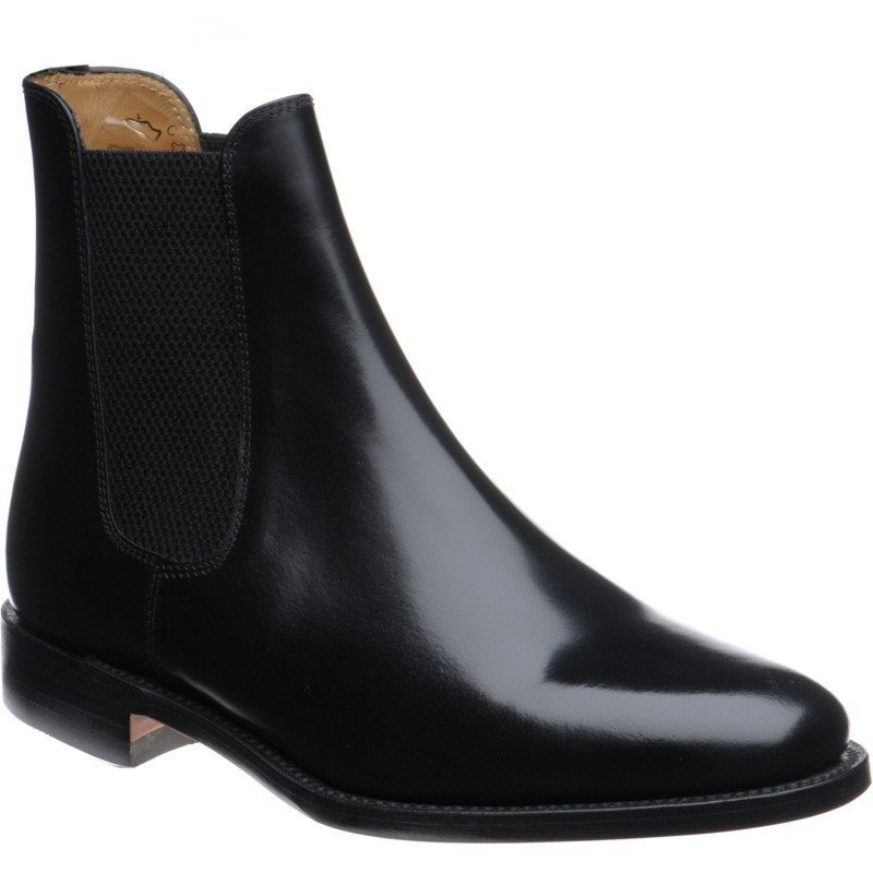 LOAKE  290 Polished Chelsea Boots - Black - Angle View