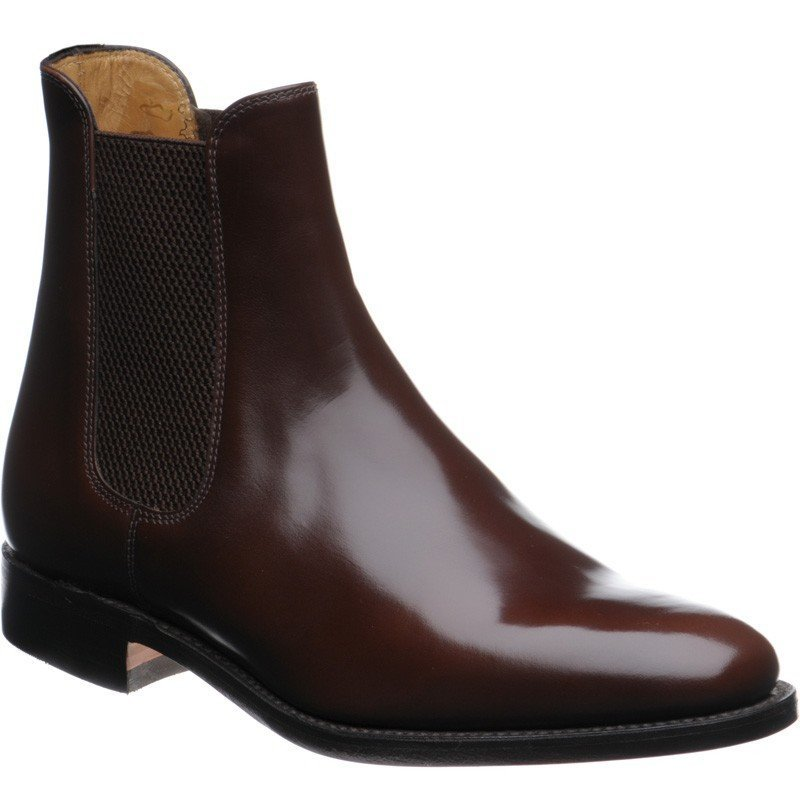 LOAKE  290T Polished Chelsea Boots - Brown - RTD - Angle View