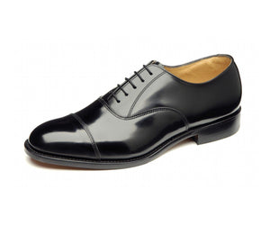 LOAKE 747B Polished Toe Cap Oxford shoe - Black - Ninostyle