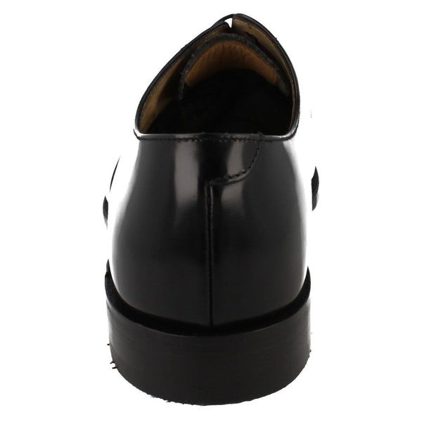 Shoes Men - LOAKE 747B Polished Toe Cap Oxford Shoe - Black
