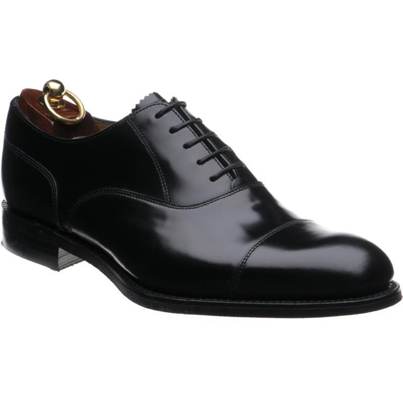 LOAKE 806B Oxford shoe - Black Polished - Angle View