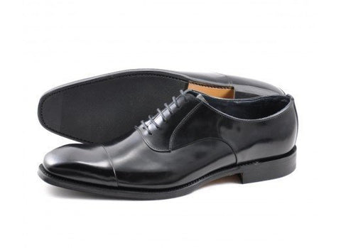 Shoes Men - LOAKE  Avery Polished Toe Cap Oxford - Black