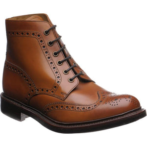 LOAKE Bedale Brogue Boot - Tan - Ninostyle