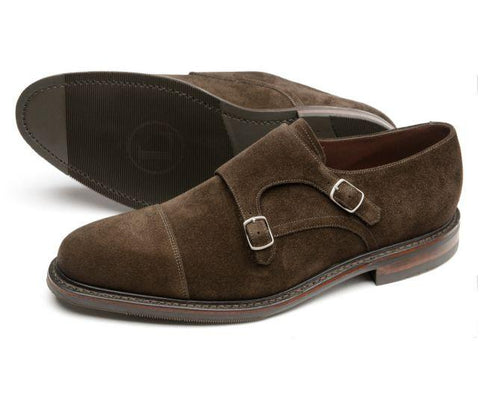 Shoes Men - LOAKE Benedict - Premium Suede Double Buckle Monk Shoe