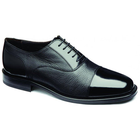 Shoes Men - LOAKE Bibury Two-tone  Oxford Shoe - Black