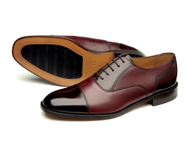 Shoes Men - LOAKE Bibury Two Tone Oxford Shoe - Burgundy