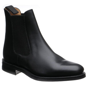LOAKE Blenheim Chelsea Boots - Black Wax - Angle View