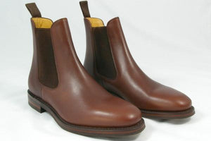LOAKE Blenheim Stylish Chelsea Boots - Brown waxy - Top View