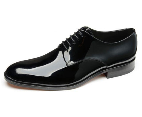 Shoes Men - LOAKE - Bow Patent Derby Dress Shoe - Black