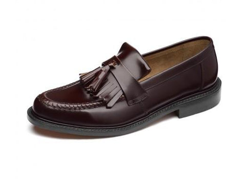 Shoes Men - LOAKE Brighton Tassled Loafers Shoe - Burgundy