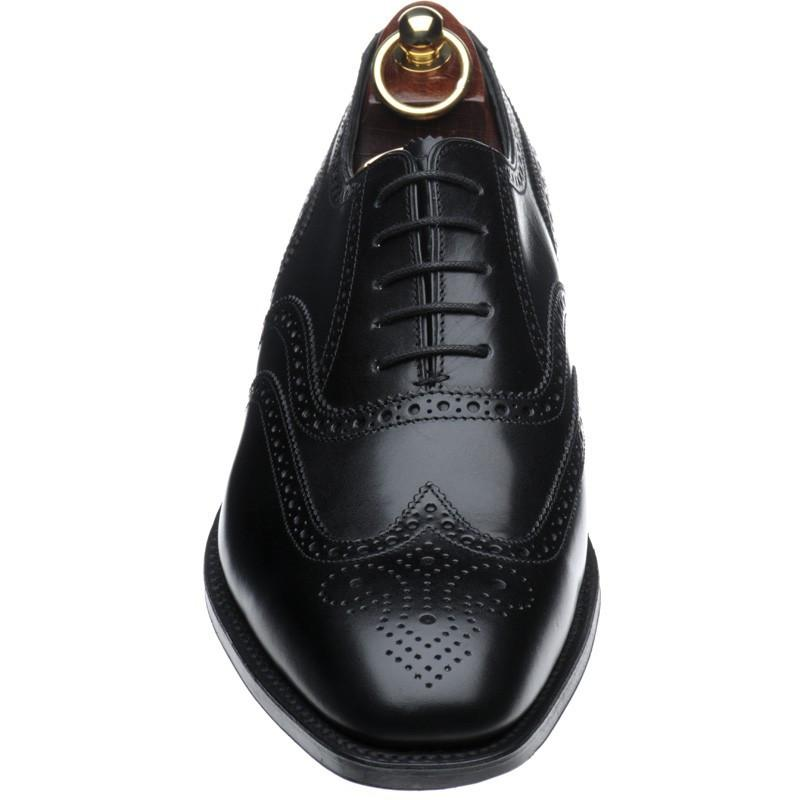 LOAKE Buckingham Black shoe - Black - Angle View