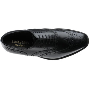 LOAKE Buckingham Black shoe - Black - Top/ Inside VIiew