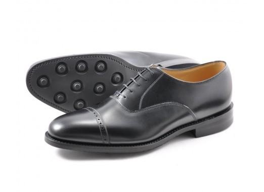 Shoes Men - LOAKE Cadogan Toe Cap Shoe - Black
