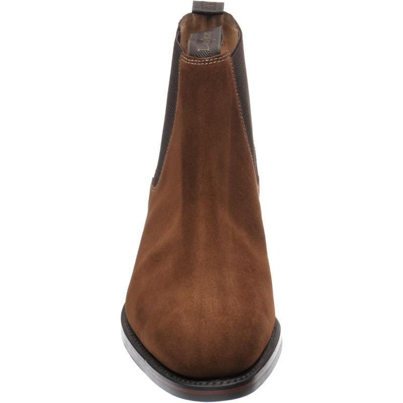 LOAKE Chatsworth Chelsea boot shoe - Brown Suede - Angle View