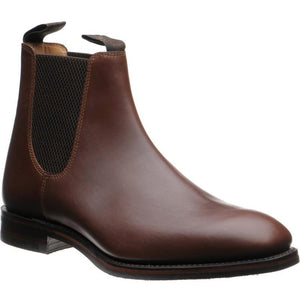 LOAKE Chatsworth Chelsea boot shoe - Brown Waxy calf - Angle View