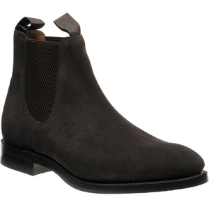 LOAKE Chatsworth Chelsea boot shoe - Dark Brown Suede - Angle View