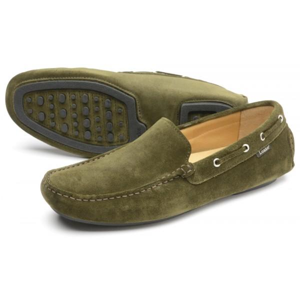 LOAKE  Donington - Suede Driving Shoes - Green - c - Ninostyle