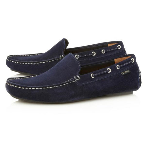 Shoes Men - LOAKE  Donington - Suede Driving Shoes - Navy