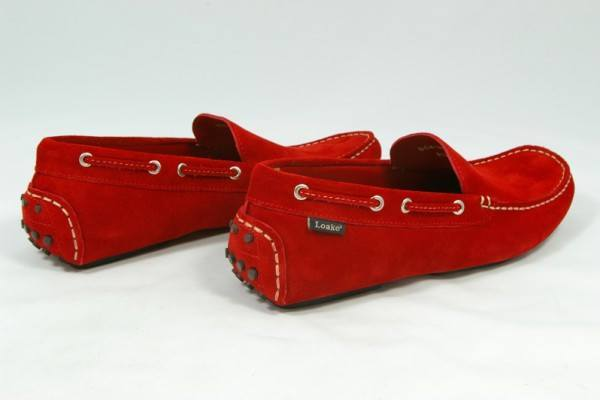Shoes Men - LOAKE  Donington - Suede Driving Shoes - Red