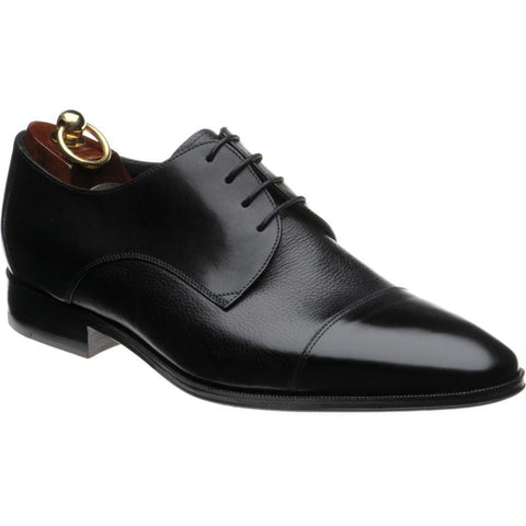 Shoes Men - LOAKE Doyle Toe Cap Oxford Shoe - Black Calf - Size 6