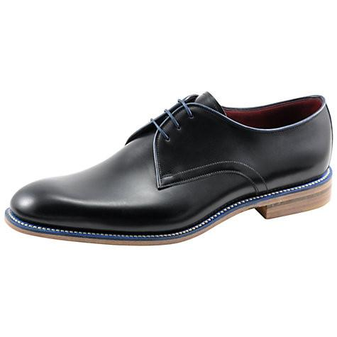 Shoes Men - LOAKE Drake Plain Tie Derby Shoe - Black