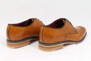 LOAKE Drake Plain Tie Derby Shoe - Tan -  Back side
