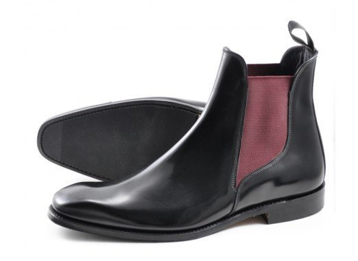 Shoes Men - LOAKE  Ferrers Polished Chelsea Boot - Black