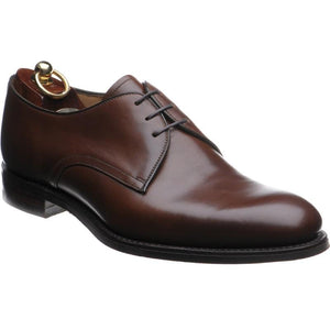 LOAKE Gable Plain Tie shoe - Brown calf - Angle View
