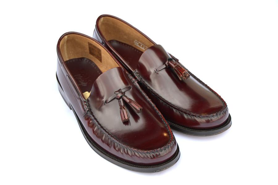 LOAKE Georgetown Tassled Mocassin Loafers - Burgundy - Ninostyle