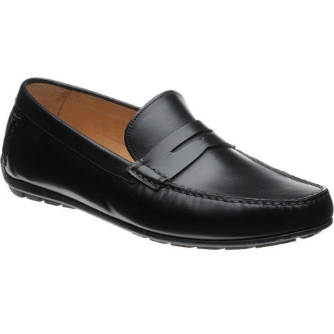 Shoes Men - LOAKE  Goodwood - Leather Driving Shoes - Black